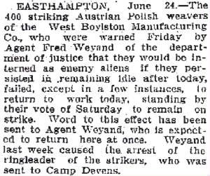 Lowell Sun, June 24, 1918.