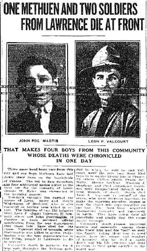 The Evening Tribune, August 5, 1918 (text below).