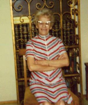 Eva Tanguay Dibbert, 1975.