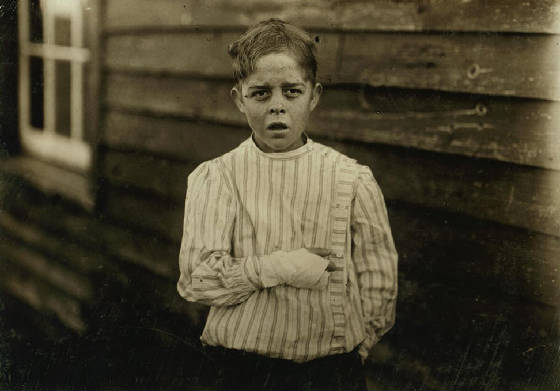 Giles Newsom, 12 years old, Bessemer City, North Carolina, October 23, 1912. Photo by Lewis Hine.