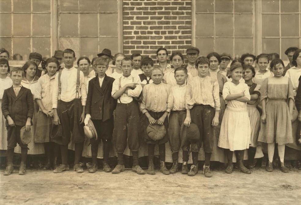 John Padgett (dark coat, holding hat), sister Alice (behind John, to his right).