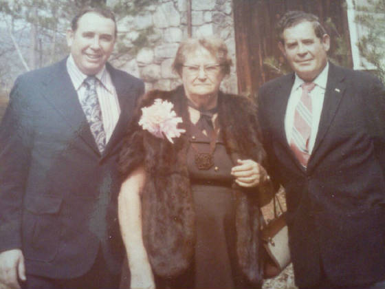 Lalar Blanton Cook, with sons Howard (left) and Ralph.