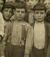 Jacob Black (boy in middle wearing suspenders).