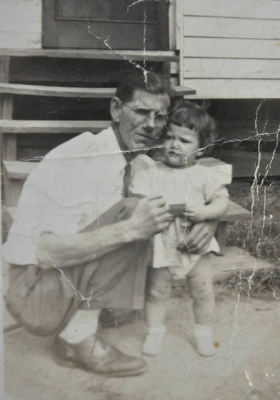 John Padgett and granddaughter Dianne, 1947.