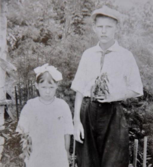 Elizabeth Padgett and brother John, circa 1918.