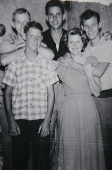 Children of John and Rosa Padgett., 1950. (L-R): Back row: William, Lewis and Jesse; front row: Joseph and Margaret (her daughter is Dianne Hilliard)