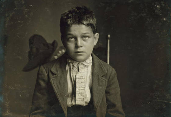 Joseph Magano, 15 yrs old, Fall River, Massachusetts, June 17, 1916. Photo by Lewis Hine.