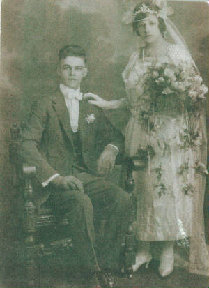 Joseph and Lucy Magano wedding photo, about 1922.