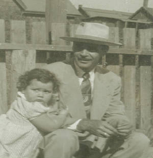 Joseph Magano with granddaughter Maureen Conboy, about 1949