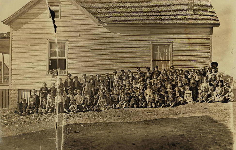 School where mill children go to school. Lancaster, S.C. Enrollment 163-- attendance, usually about 100.