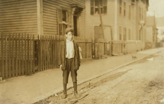 Leo Andreoli, Lawrence, Massachusetts, September 1911. Photo by Lewis Hine.