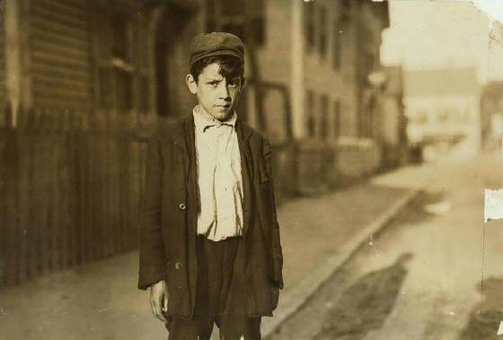 Leo Andreoli, 15 years old, Lawrence, Massachusetts, September 1911. Photo by Lewis Hine.