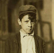 Leo Andreoli, 1911. Photo by Lewis Hine.