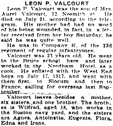 The Evening Tribune, August 5, 1918.