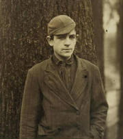 Leon Valcourt, 1911. Photo By Lewis Hine.