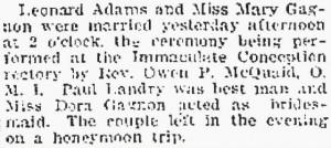 Lowell Sun, October 4, 1915.