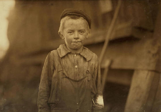 Lonnie Cole, 11 years old, Village of Avondale, Birmingham, AL, November 1910. Photo by Lewis Hine.