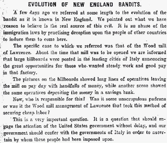 Editorial in the Lowell (Mass) Sun, August 17, 1908.