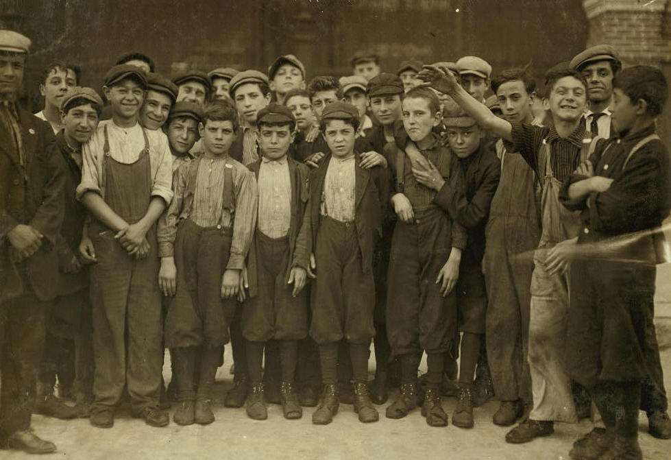 Michael Devine, 14 years old, Lawrence, Mass., Sept 1911. Photo by Lewis Hine