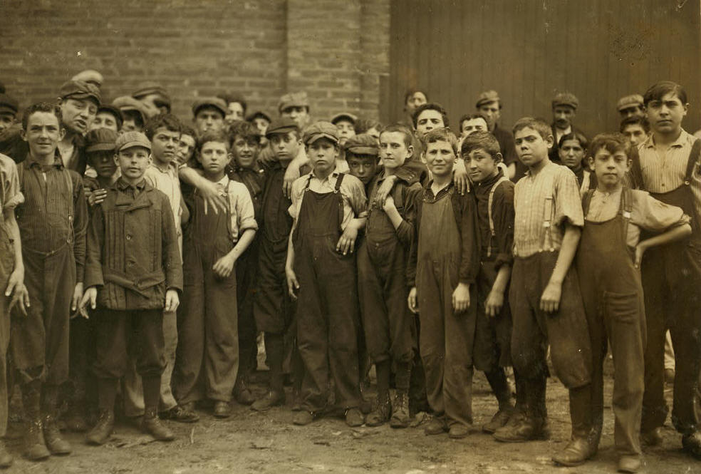 Michael Devine, Lawrence, Mass., Nov 1911. Photo by Lewis Hine.