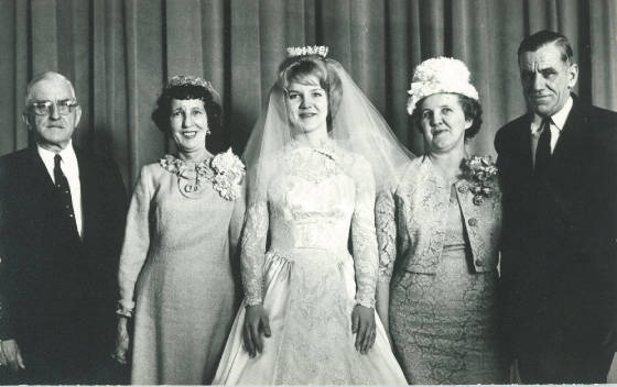 (L-R): Michael Devine, Winifred Devine Stam (Michael's sister), Monica Sharpe (Michael's niece and writer of information below), Mary Devine Becotte (Michael's sister), and James Devine (Michael's brother), February 20, 1965