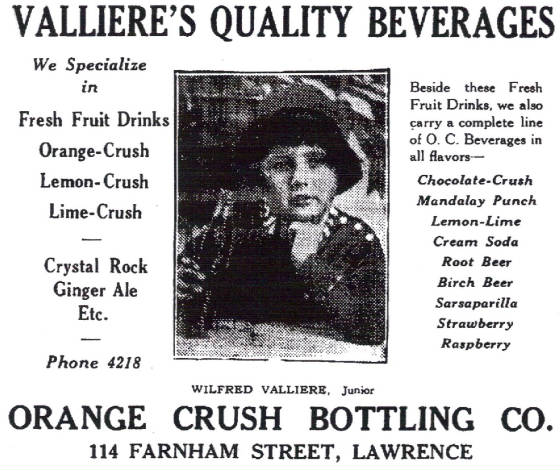 Much to Mr. Valliere's surprise, I found the advertisement in the 1931 Lawrence city directory.