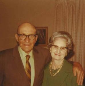 Otto and Agnes Shelton, 1971.