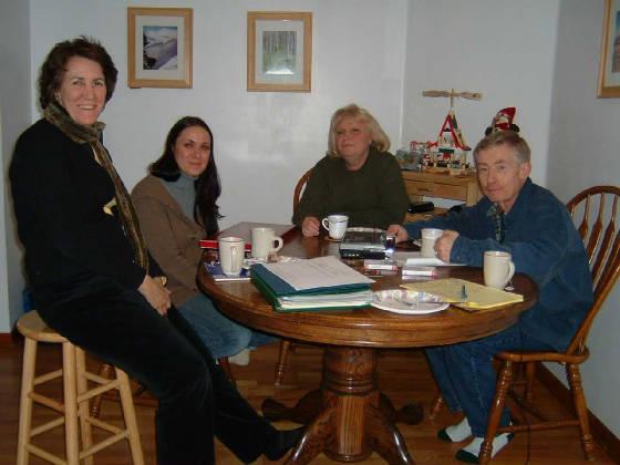 L-R: Elizabeth Winthrop, Piperlea, Cathleen, Joe Manning. Photo by Carole Manning.