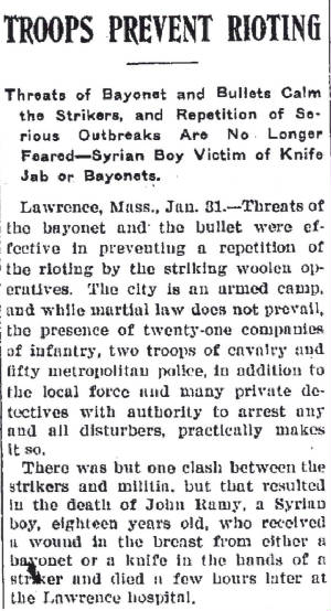 Middletown (NY) Daily Times, January 31, 1912.