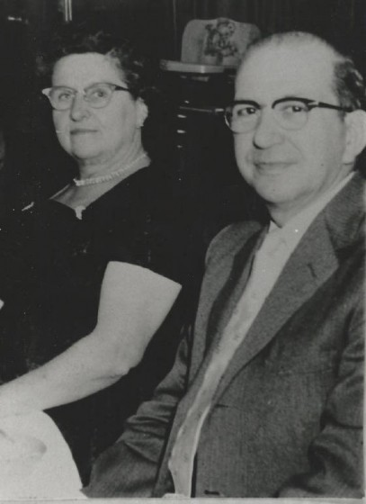 Sylva (about 50 years old) and Aurore Marcil, circa 1950.