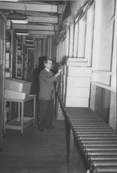 Sylva Marcil, at Sprague Electric Company, 1950s.