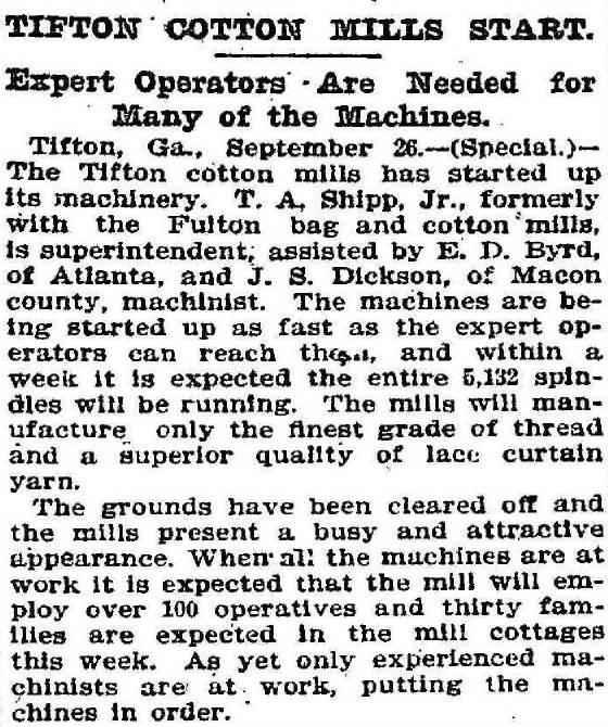 Atlanta Constitution, September 26, 1901.