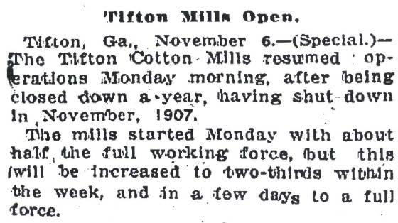 Atlanta Constitution, November 7, 1908.