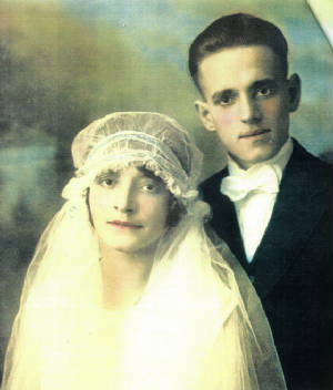 Thomas and Annette Levesque on wedding day.
