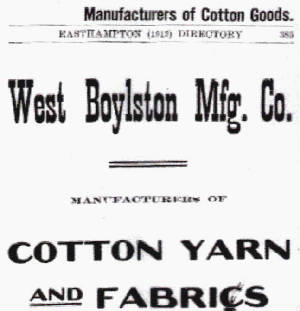 Advertisement in 1912 Easthampton directory.