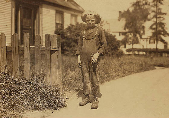 Wilford Clark Jr., 10 yrs old, Eastport, Maine, August 1911. Photo by Lewis Hine.