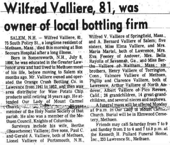 Wilfred Valliere: 1896 - 1978