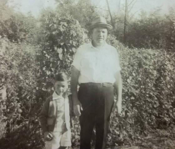 William Padgett with son Bob.