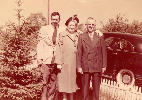 Adelard and Maria Gagnon with son Adelard, 1953.
