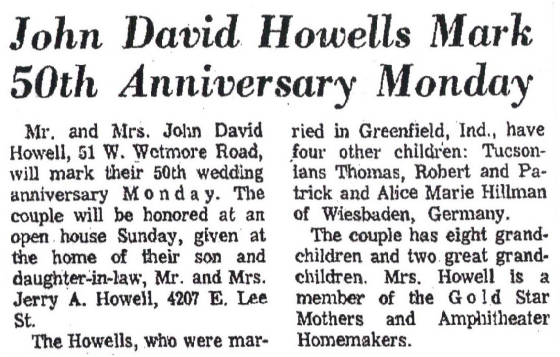 Article published November 23, 1967. John and Julia were married on November 27, 1917.