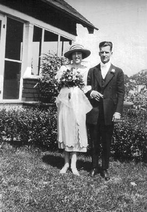 Albert and Mildred Buecher, August 10, 1921.