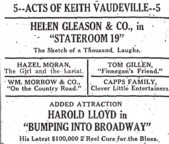Amsterdam Evening Recorder (NY), February 27, 1920 (NewspaperArchive.com).
