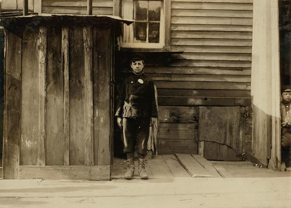 Anthony Martina, 12 years old, Buffalo, New York, March 1910. Photo by Lewis Hine.