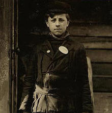 Anthony Martina, 1910. Photo by Lewis Hine.