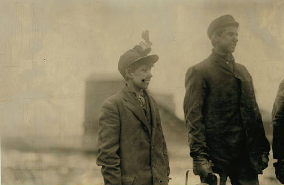 Arthur Havard (left), South Pittston, PA, January 1911. Photo by Lewis Hine.