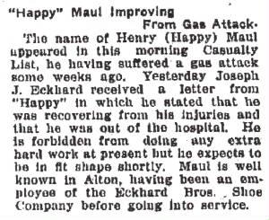 Alton Telegraph, December 21, 1918.