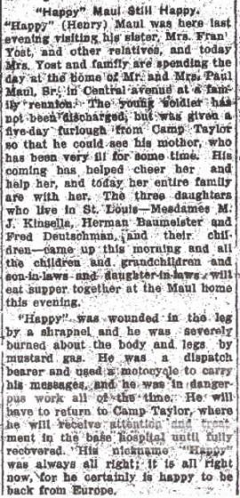 Alton Telegraph, February 11, 1919.