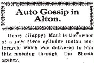 Alton Telegraph, March 27, 1915.