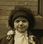 Bessie Brownstein, 1909. Photo by Lewis Hine.