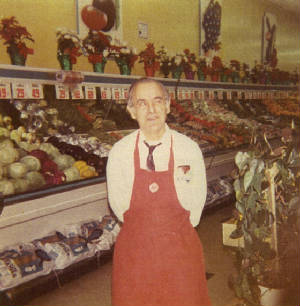 Carmine Zizza, at the A&P store, 1972.